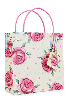 EMMA BRIDGEWATER Rose gift bag 22cm