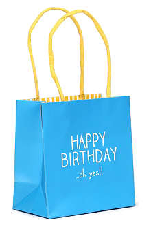 SWAN MILL PAPER CO LTD Happy Birthday small paper gift bag
