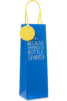 PENNY KENNEDY Happiness is bottle shaped bottle gift bag