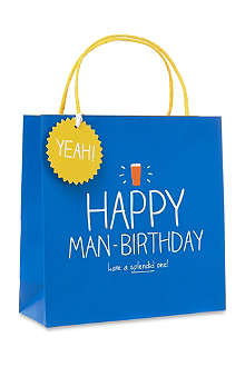 HAPPY JACKSON Happy man-birthday medium bag