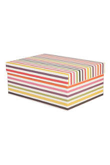 CAROLINE GARDNER Bright Stripe large gift box