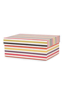 CAROLINE GARDNER Bright Stripe medium gift box