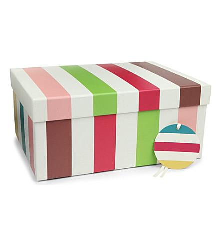 CAROLINE GARDNER Stripe gift box