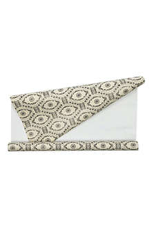 CAROLINE GARDNER Black cream lace wrapping paper