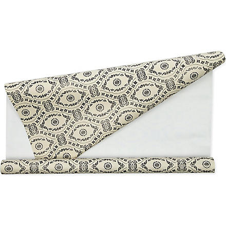 Black cream lace wrapping paper