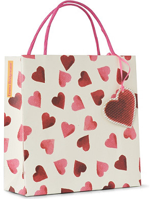 EMMA BRIDGEWATER Heart gift bag 20cm