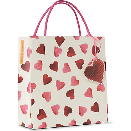 EMMA BRIDGEWATER Heart gift bag 20cm