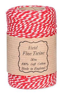 VIVID WRAP Red and white twist twine 50m