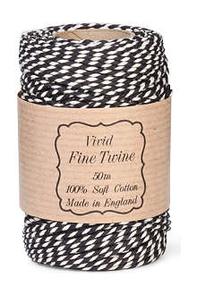 VIVID WRAP Black twist twine 50m
