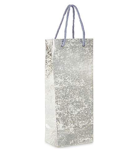 VIVID WRAP Crushed foil bottle gift bag