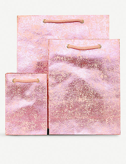 VIVID WRAP Metallic crush paper gift bag 30cm