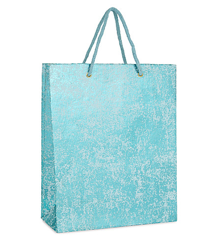 VIVID WRAP Crushed foil large gift bag