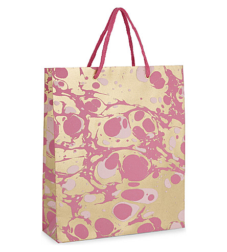 VIVID WRAP Marbled large gift bag