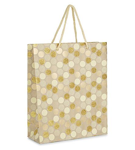 VIVID WRAP Polka dot large gift bag