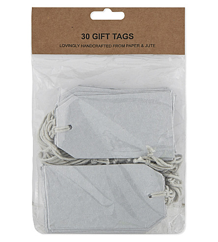 VIVID WRAP Pack of 30 metallic gift tags
