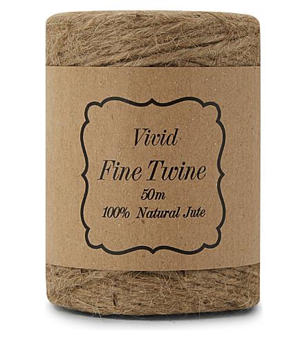 VIVID WRAP Natural jute twine 50m