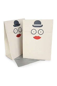 MERI MERI Bowler Hat pair of medium gift bags