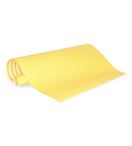 SUGAR PAPER Sunshine yellow reversible wrapping paper