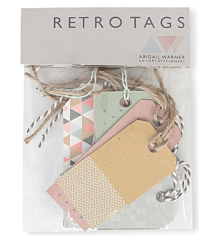 ABIGAIL WARNER Retro gift tags pack of 10