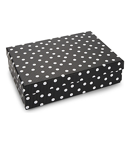 Stripe and polka dot extra-large gift box