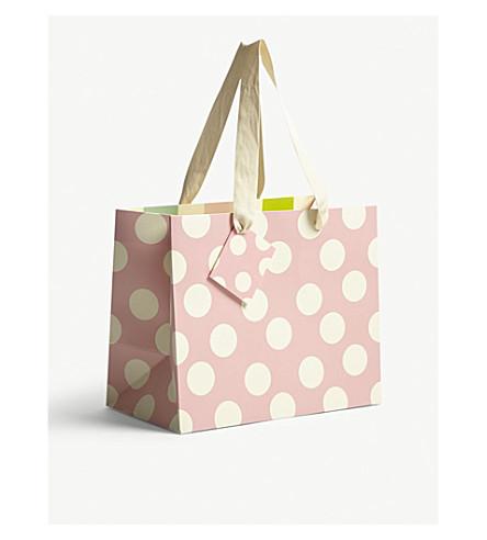 CAROLINE GARDNER Polka dot landscape gift bag
