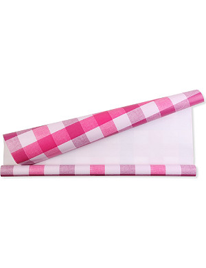 DEVA DESIGNS Quadretta fuchsia roll wrap