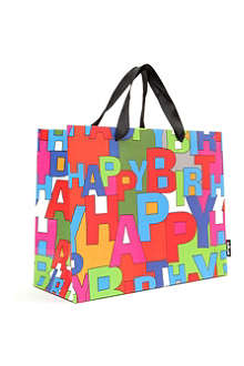 DESIGNERS GUILD Happy Birthday gift bag medium