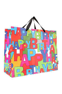DEVA DESIGNS Happy Birthday gift bag carrier