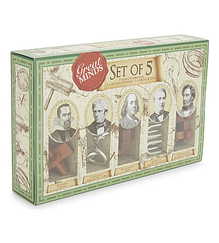 PROFESSOR PUZZLE Great Minds Set of 5 Puzzles