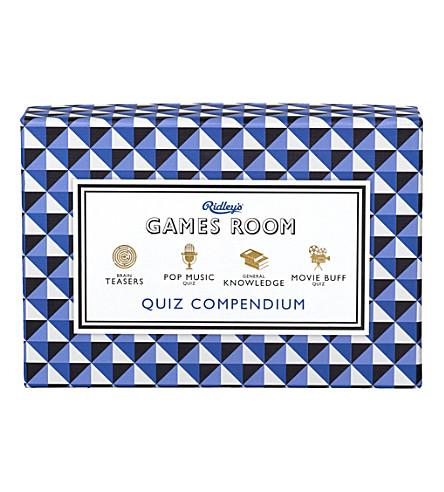 WILD & WOLF Ridley's Games Room Quiz Compendium