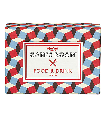 WILD & WOLF Ridley's Games Room Food & Drink Quiz