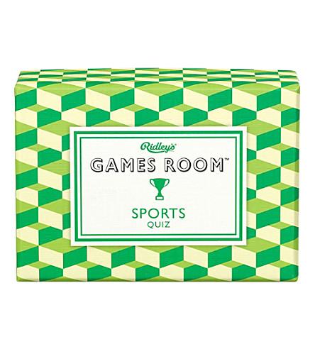 WILD & WOLF Ridley's Game Room Sport Quiz