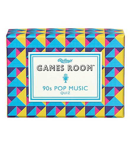 WILD & WOLF Games Room 90s pop music quiz