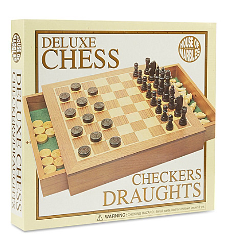 Christmas deluxe chess and draughts set - Deluxe chess sets ...