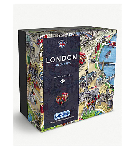 GIBSON & SONS London landmarks 500 piece jigsaw puzzle