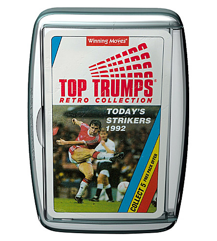 WINNING MOVES Top Trumps Retro Collection Today's Strikers 1992