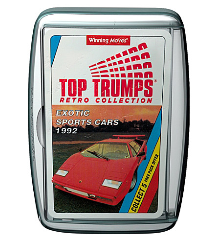WINNING MOVES Retro Exotic Sports Cars Top Trumps