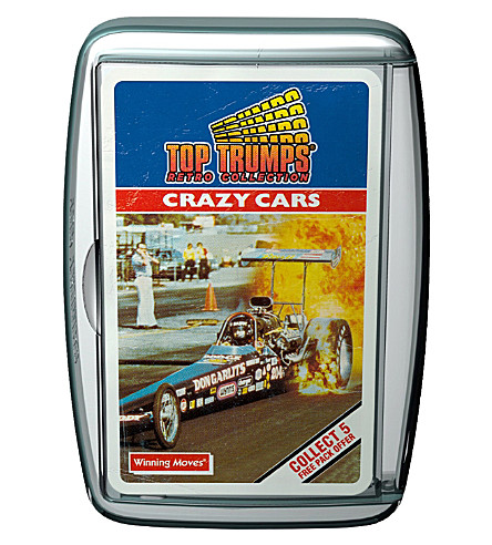 WINNING MOVES Top Trumps Retro Crazy Cars