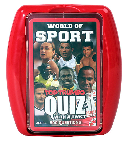 WINNING MOVES Top Trumps World Of Sport Quiz game