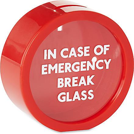 SUCK UK Emergency money box