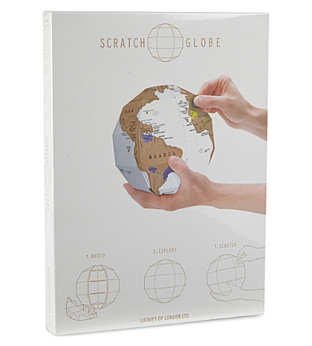 LUCKIES OF LONDON 3D scratch-off globe