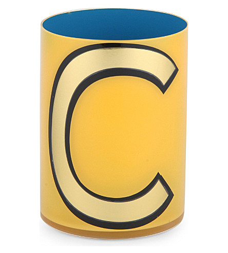 DESIGN LETTERS Alphabet C brush pot