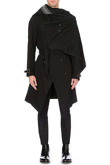 MAISON MARTIN MARGIELA Scarf-layered trench coat