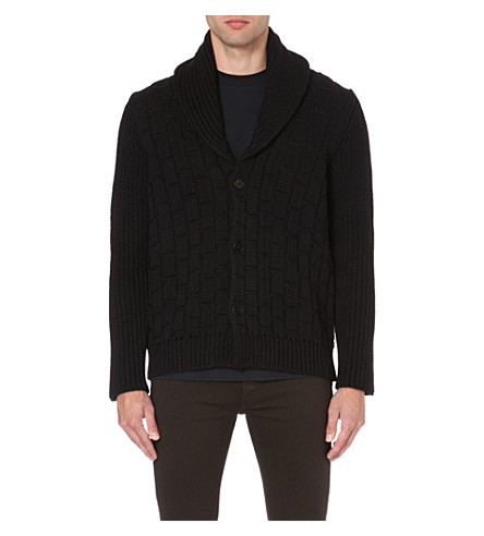 MAISON MARGIELA Textured knit cardigan (Navy