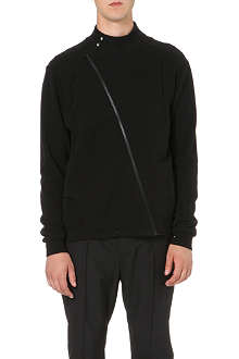 MAISON MARTIN MARGIELA Twist-detail cotton-jersey jacket