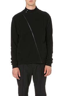 MAISON MARTIN MARGIELA Twist-detail cotton-jersey jacket