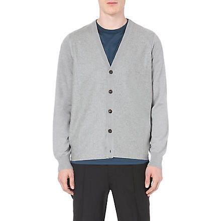 MAISON MARTIN MARGIELA Knitted wool cardigan (Grey