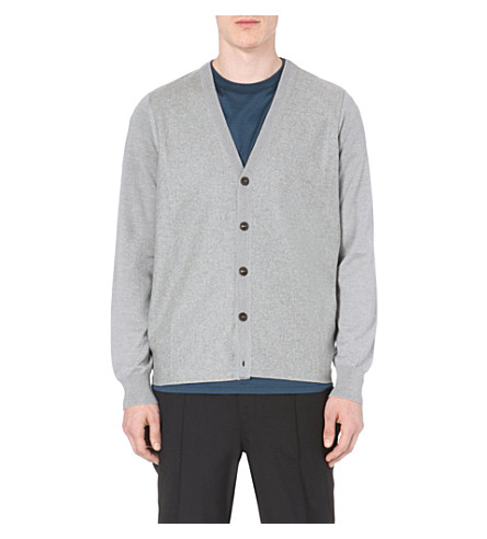 MAISON MARGIELA Knitted wool cardigan (Grey