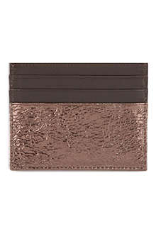 MAISON MARTIN MARGIELA Burnished leather card holder