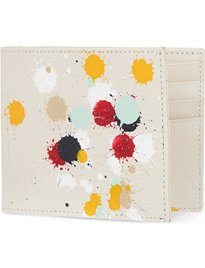 MAISON MARGIELA Paint-splattered billfold wallet